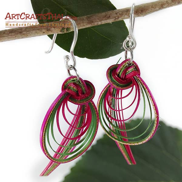 Bamboo Earrings - Bird Tail And Drop Loop_1