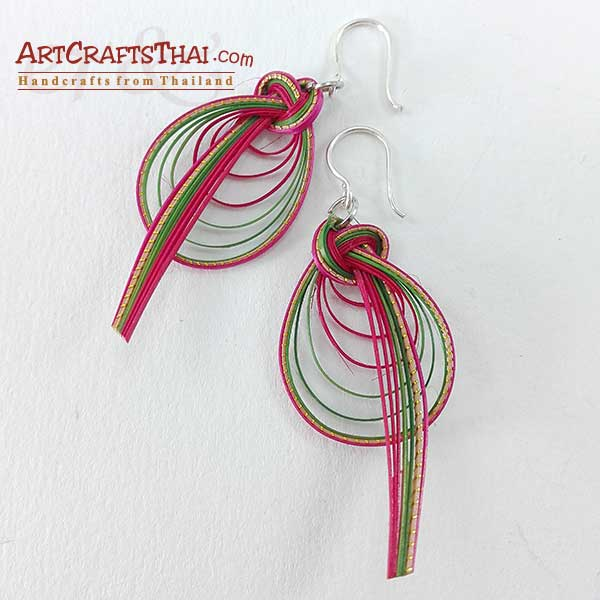Bamboo Earrings - Bird Tail And Drop Loop_3