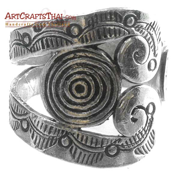 Boho Ethnic Hill Tribe Silver Ring_1