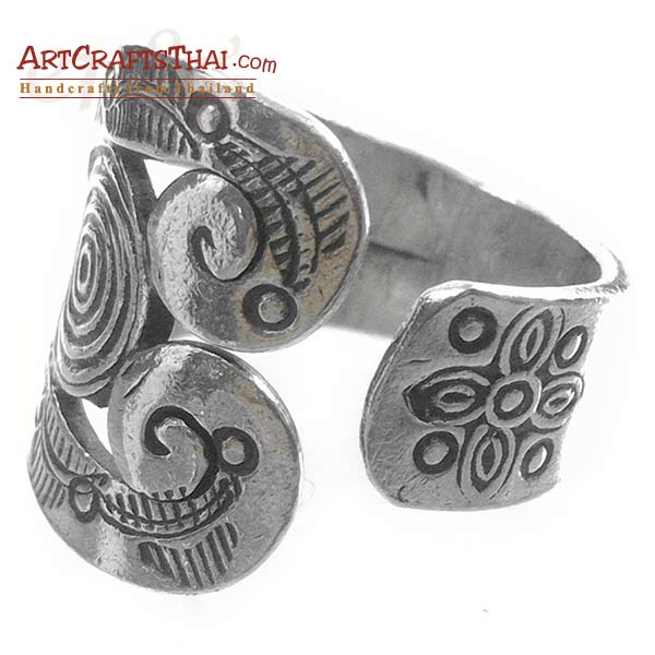 Boho Ethnic Hill Tribe Silver Ring_2