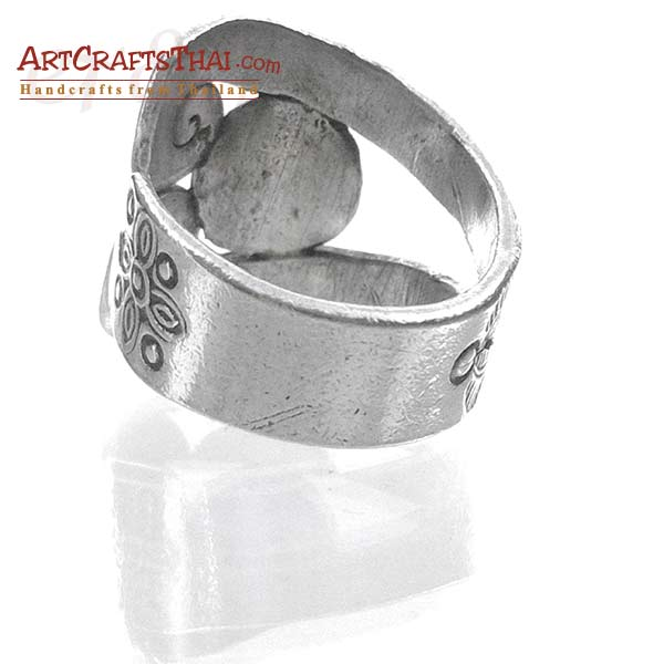 Boho Ethnic Hill Tribe Silver Ring_3