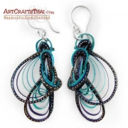 Bamboo Loops Colourful Artisan Earrings
