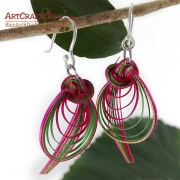 Bamboo Earrings - Bird Tail And Drop Loop