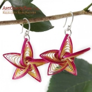 Star Shaped Bamboo Earrings