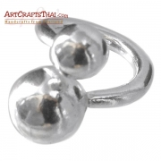 Silver Ball Bead Twist Ring