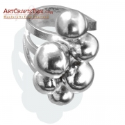 Ball Cluster Silver Ring